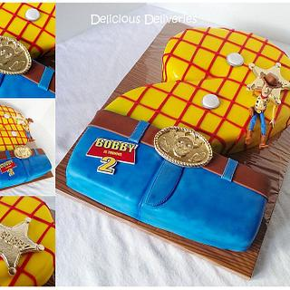 Toy Story Themed Number Cake