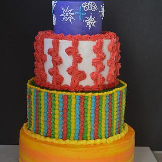 Candy land theme cake  - Cake by onceuponacake3
