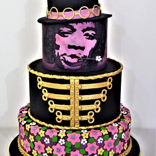 "Jimi Hendrix Purple Haze - "" Gone too soon"" Cake Collaboration"