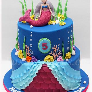 Frozen Anna mermaid cake