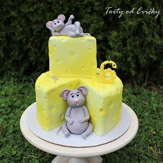 Mice and cheese - Cake by Cakes by Evička