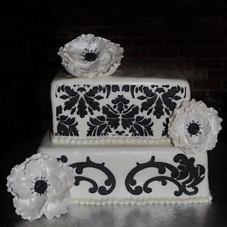 Damask anemone cake