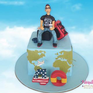 USA to SPAIN! - Cake by Fabriquilla de Azucar
