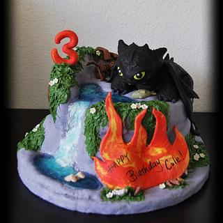 Astounding How To Train Your Dragon Cake 38 Cakes Cakesdecor Personalised Birthday Cards Veneteletsinfo