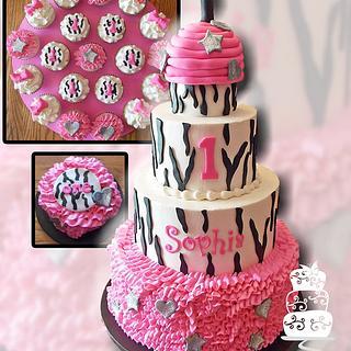 Zebra Print Ruffles Birthday