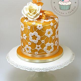 Golden Double Barrel Cake