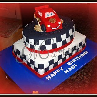 Lightning McQueen Birthday - Cake by Slice of Sweet Art