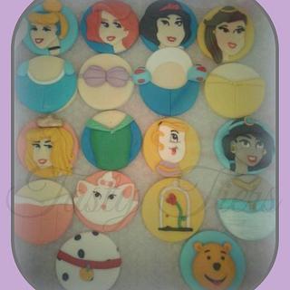 disney theme cupcake toppers