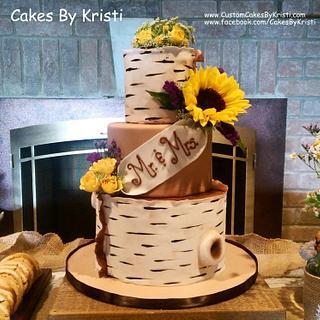 Barb & Fred's Wedding Cake