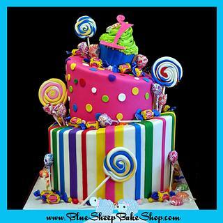 Candyland 1st Birthday Cake - Cake by Karin Giamella