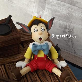 Pinocchio - Cake by Sugarwhizz