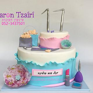 fasion and makeup cake