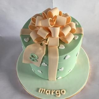 Hat box bow - Cake by jen lofthouse