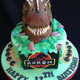 Aarons Allosaurus Cake!