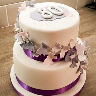80th birthday cake  - Cake by Rachel Nickson