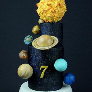 Solar System Birthday Cake - Cake by Jennifer Holst • Sugar, Cake & Chocolate •