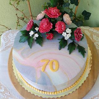 Cake with carnations - Cake by luhli