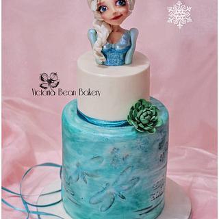 Interpretations of Elsa - Cake by VictoriaBean