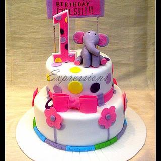 Turning 1 Elephant cake