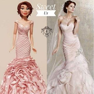 Couture Cakers International 2018 Collaboration - pink wedding dress