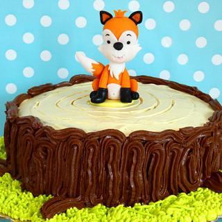 Choolate stump cake