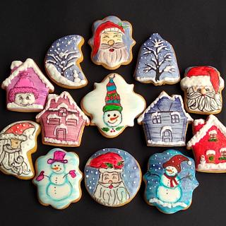 Santa, Snowman, Winter cookies