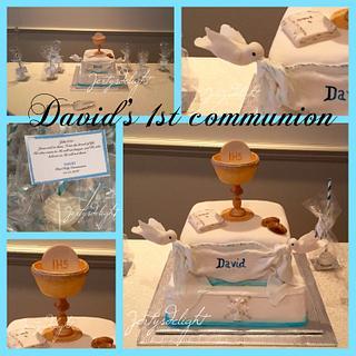 Gravity defying doves - Cake by Jertysdelight