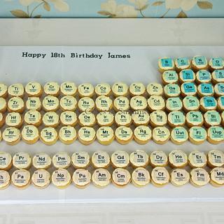 Periodic Table Cupcakes