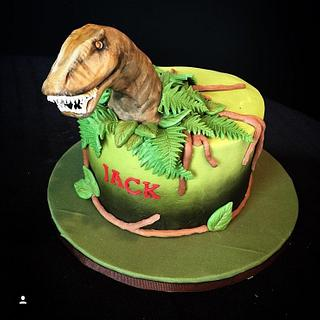 Small trex  - Cake by The Sweet Duchess