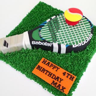 Tennis Racket Cake - Wimbledon Is Here!