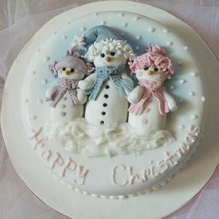 'Snowfamily' Cake