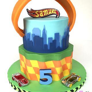 Hot Wheels - Cake by Irina - Ennas' Cake Design