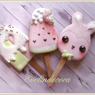 Kawaii popsicle cookies