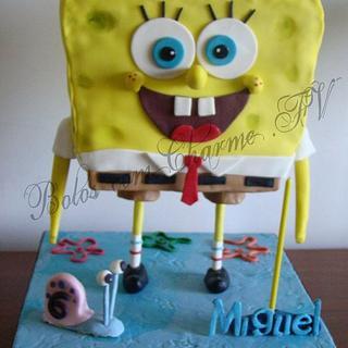 Sponge Bob birthday cake - Cake by canela