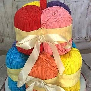balls of wool cake