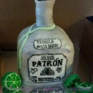 Patron bottle cake