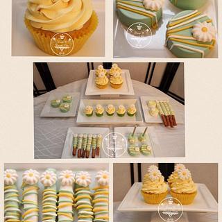 Mango Meringue Madness Mini Dessert Table💛
