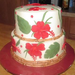 40th Ruby Anniversary Cake