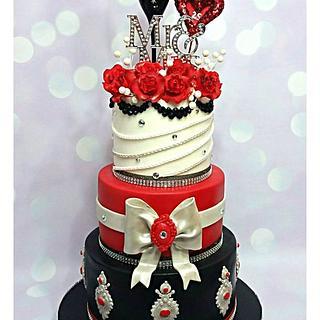 25th Wedding Anniversary Cake!