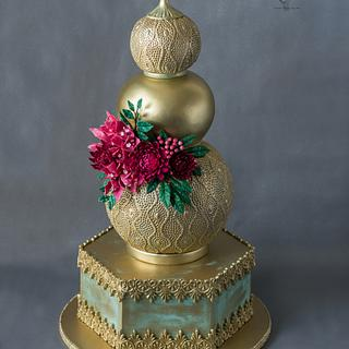 Wedding ... Gold Lantern Cake