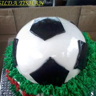 3D FOOTBALL CAKE  !!!!