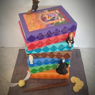 Harry Potter Stacked Book Cake