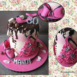 Double Barrel Fashion Drip Cake