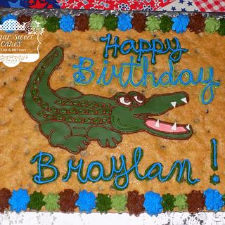 Alligator Cookie Cake