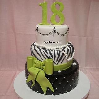 18th birthday cakes - Cake by pahuljaa