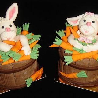 IT'S A BUNNY BARREL OF FUN MINI CAKES