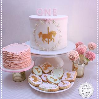 Carousel Horse themed party table treats