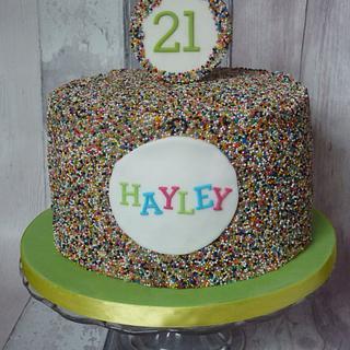 21st Birthday Sprinkle Cake