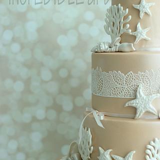 """Lasting Impression""- 3 Tier Wedding Cake"