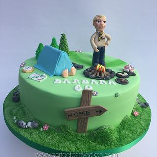 Scout leader cake